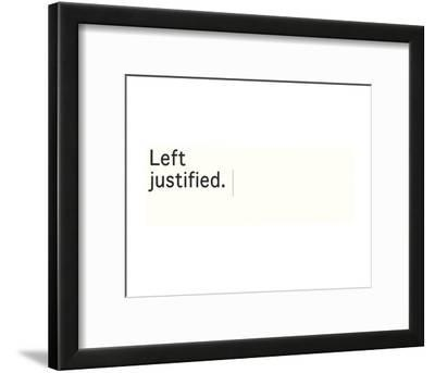 Left Justified