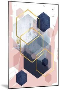 Abstract Navy Blush Gold 1 by Urban Epiphany