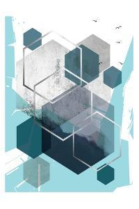 Abstract Teal 1 by Urban Epiphany