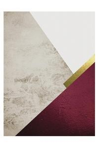 Beige Burgundy Mountains 1 by Urban Epiphany