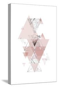 Blush Pink Marbled Geometric by Urban Epiphany