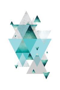 Love Joy Geo Turquoise 2 by Urban Epiphany