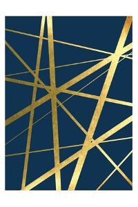 Metallic Lines Navy 1 by Urban Epiphany