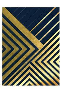 Metallic Lines Navy 2 by Urban Epiphany