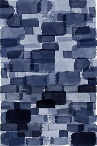 Navy Blue Watercolor Block by Urban Epiphany