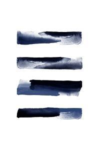 Navy Blue Watercolor Strokes by Urban Epiphany