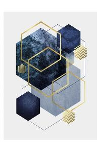 Navy Gold Geo 2 by Urban Epiphany
