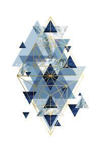 Navy Gold   Geometric by Urban Epiphany