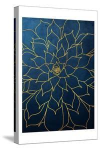 Navy Gold Succulent 1 by Urban Epiphany