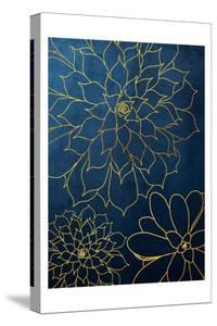 Navy Gold Succulent 3 by Urban Epiphany
