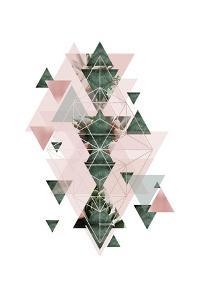 Pink Green Geometric 2 by Urban Epiphany