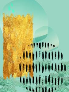 Scandi Abstract Mint Gold by Urban Epiphany