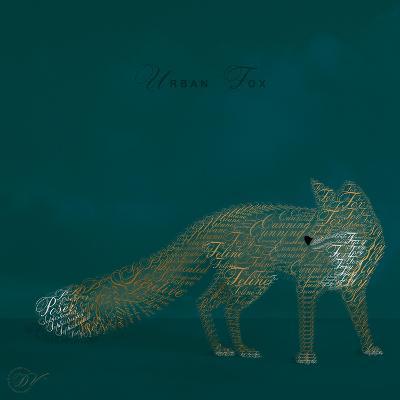 Urban Fox - Blue-Dominique Vari-Art Print