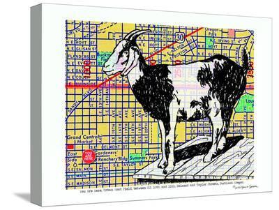 Urban Goat Portland--Stretched Canvas Print