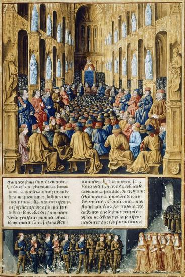 Urban II at Council of Clermont Announcing First Crusade in 1095--Giclee Print