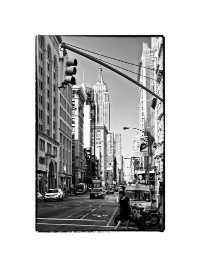 Urban Lifestyle, Empire State Building, Manhattan, New York, White Frame, Full Size Photography-Philippe Hugonnard-Photographic Print
