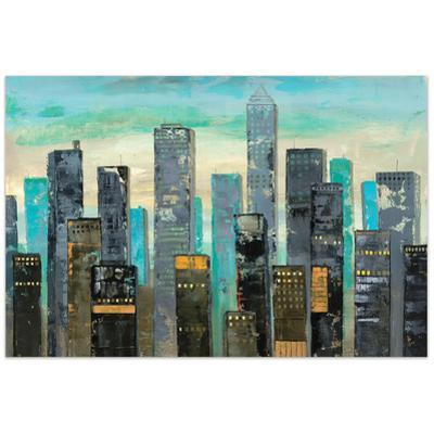 Urban Lights II - Free Floating Tempered Glass Wall Art