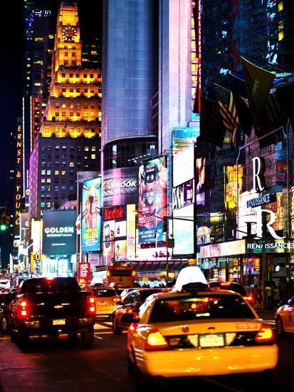 Urban Scene By Night Times Square Manhattan New York City United States Photographic Print Philippe Hugonnard Art Com