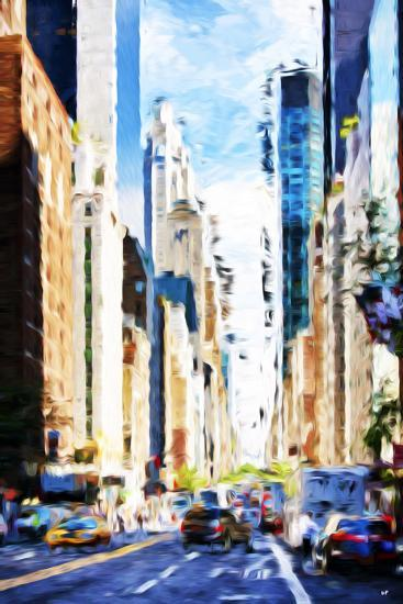 Urban Scene VI - In the Style of Oil Painting-Philippe Hugonnard-Giclee Print
