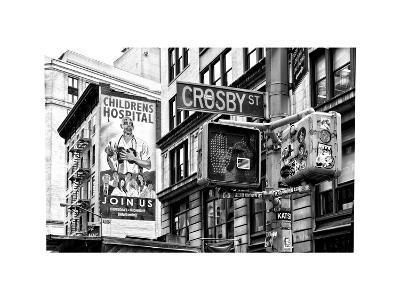 "Urban Scene, Wall Advertising ""Childrens Hospital"", Crosby Street, Broadway, Manhattan, NYC-Philippe Hugonnard-Photographic Print"