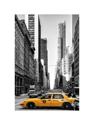 Urban Scene with Yellow Taxis-Philippe Hugonnard-Photographic Print