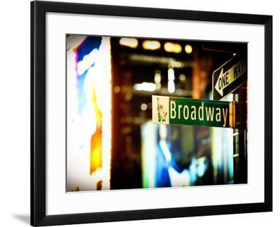 Urban Sign, Broadway Sign at Times Square by Night, Manhattan, New York, United States, USA-Philippe Hugonnard-Framed Photographic Print