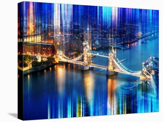 Urban Stretch Series - The Tower Bridge over the River Thames by Night - London-Philippe Hugonnard-Stretched Canvas Print