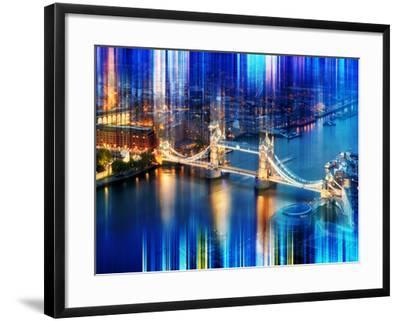 Urban Stretch Series - The Tower Bridge over the River Thames by Night - London-Philippe Hugonnard-Framed Photographic Print