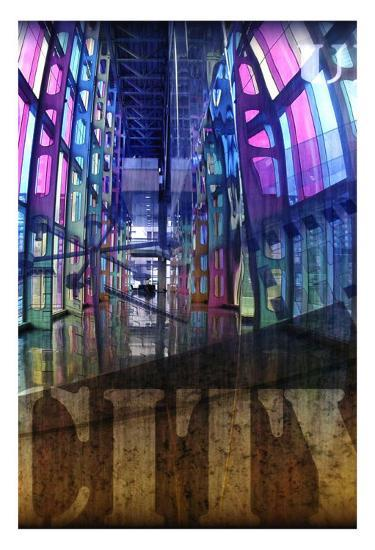 Urbanity III, Left Panel-Jean-Fran?ois Dupuis-Art Print