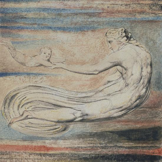 Urizen, Plate 2 of Urizen: Teach These Souls to Fly-William Blake-Giclee Print