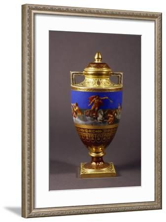 Urn Shaped Vase with Neoclassical Frieze and Scenes of Neptune's Chariot--Framed Giclee Print