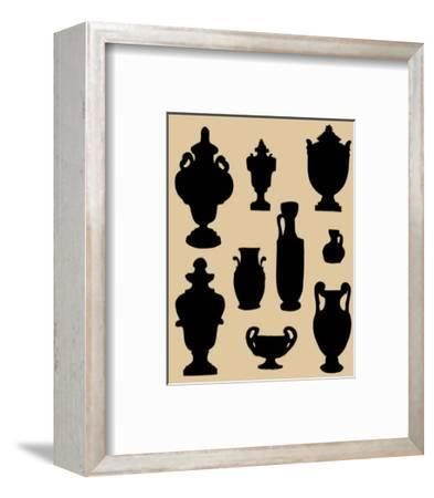 Urns in Silhouette II--Framed Art Print