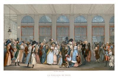 The Galerie De Bois, Paris, 1787