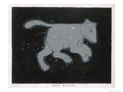 Ursa Major: The Constellation is Composed at First Sight of Seven Conspicuous Stars-Charles F^ Bunt-Giclee Print