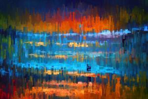 City at Night 1 by Ursula Abresch