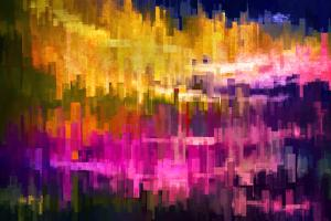 City at Night 2 by Ursula Abresch