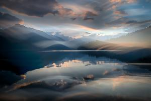 Slocan Lake At Sunset 6 by Ursula Abresch