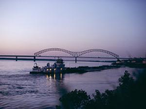 Mississippi River, Memphis, Tennessee, United States of America (U.S.A.), North America by Ursula Gahwiler