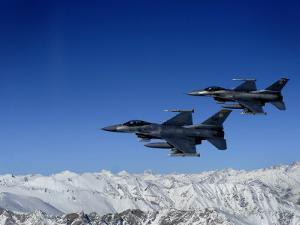 US Air Force F-16 Fighting Falcons Conduct Operations over Eastern Afghanistan