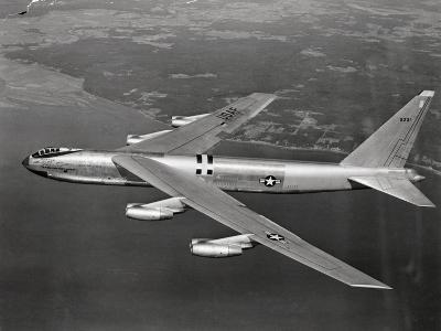 US Airforce 8 Jet B-52 Stratofortress Flying--Photographic Print
