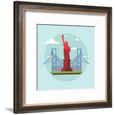 Us America-Wonderful Dream-Framed Art Print