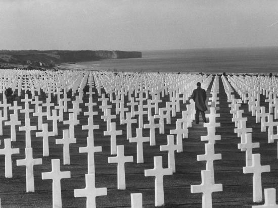 US Army Cemetery at Omaha Beach-Leonard Mccombe-Photographic Print