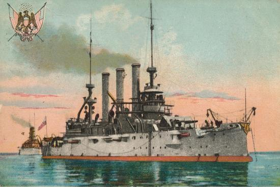 Us Battleship Missouri, C1908--Giclee Print