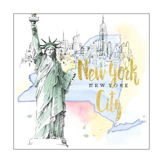 US Cities IV-Beth Grove-Art Print