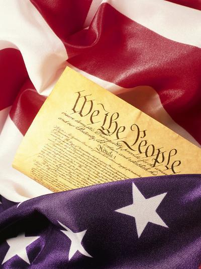 US Flag, Constitution-Terry Why-Photographic Print