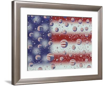 US Flag Reflection, Washington, USA-Jamie & Judy Wild-Framed Photographic Print