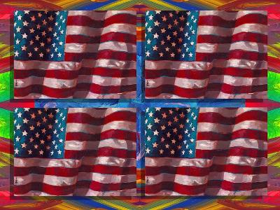 US Flags-Howie Green-Giclee Print
