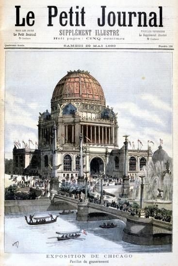 Us Government Pavilion, Chicago Exhibition, 1893--Giclee Print