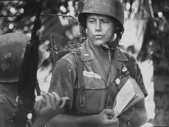 US Lt. Roger Zailskas Serving in Vietnam-Larry Burrows-Photographic Print