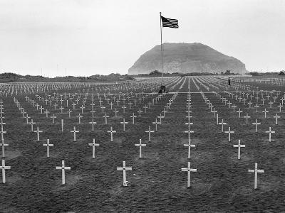 US Marine Cemetery on Iwo Jima--Photographic Print